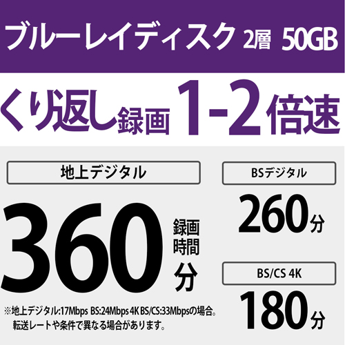 ソニー 録画用BD−RE DL 11BNE2VPPS2