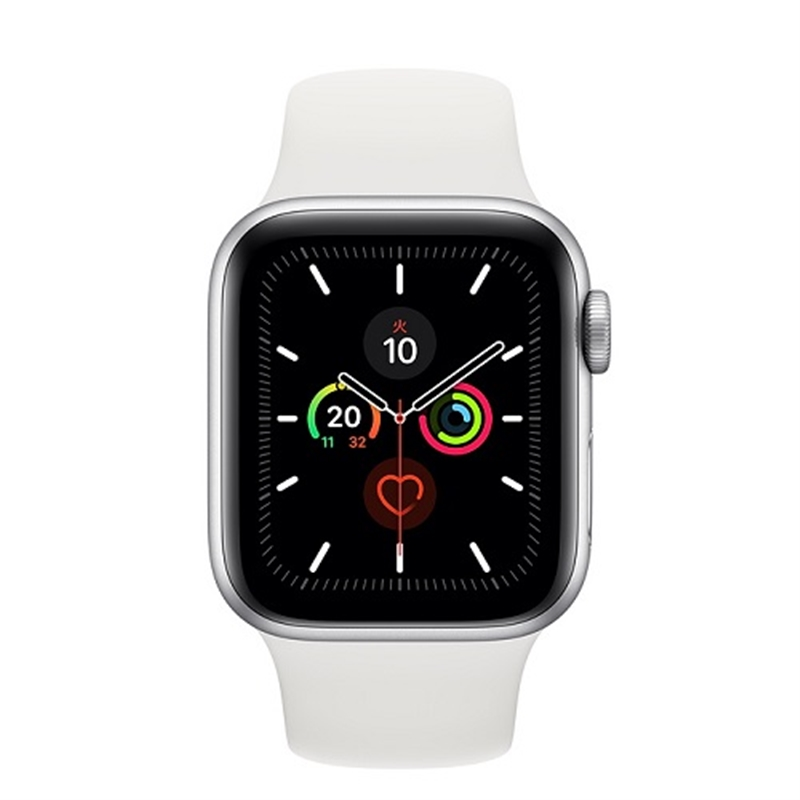 APPLE 【S5GPS】AW44MM SLアルミ/Wスポーツ MWVD2J/A(APPLE WATCH S5 44 SIL AL WT SP GPS)