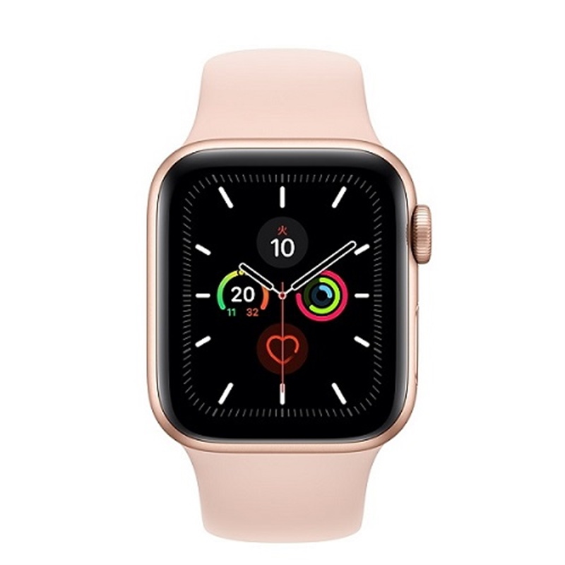 APPLE 【S5GPS】AW44MM Gアルミ/PKバンド MWVE2J/A(APPLE WATCH S5 44 GLD AL PS SP GPS)