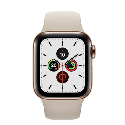 APPLE 【S5GPS/CEL】AW40MM Gステンレス/STスポ MWX62J/A(APPLE WATCH S5 40 GOLD SS ST SP CEL)