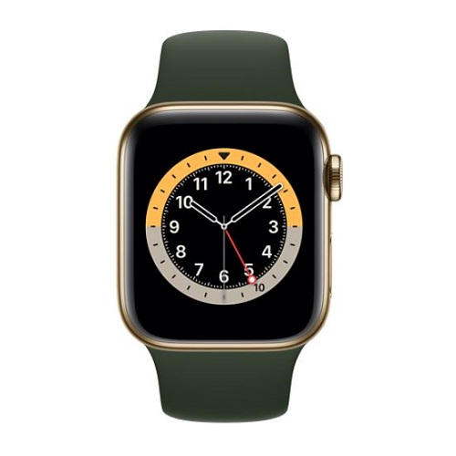 APPLE Apple Watch Series 6(GPS + Cellularモデル)- 40mmゴールドステンレススチールケースとスポーツバンド M06V3J/A(APPLE WATCH S6 40 GLD SS GRN SP CEL)
