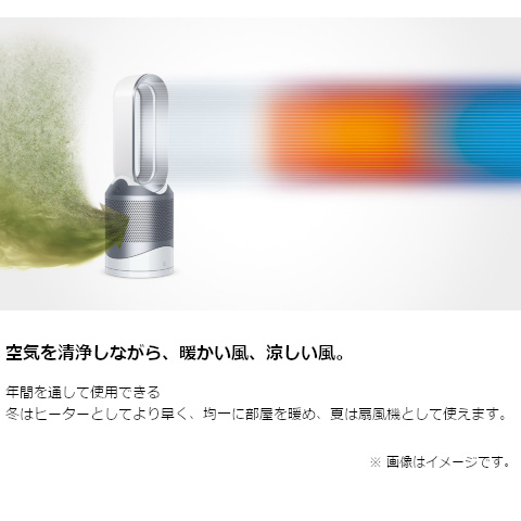DYSON Dyson Pure Hot + Cool 空気清浄機能付ファンヒーター HP00IS N