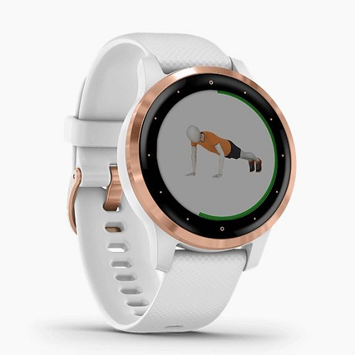 GARMIN 活動量計タイプ GARMIN 010-02172-27 vivoactive 4S White / Rose Gold