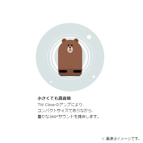 LINE Clova搭載 スマートスピーカー Clova Friends mini BROWN NL-S200JP
