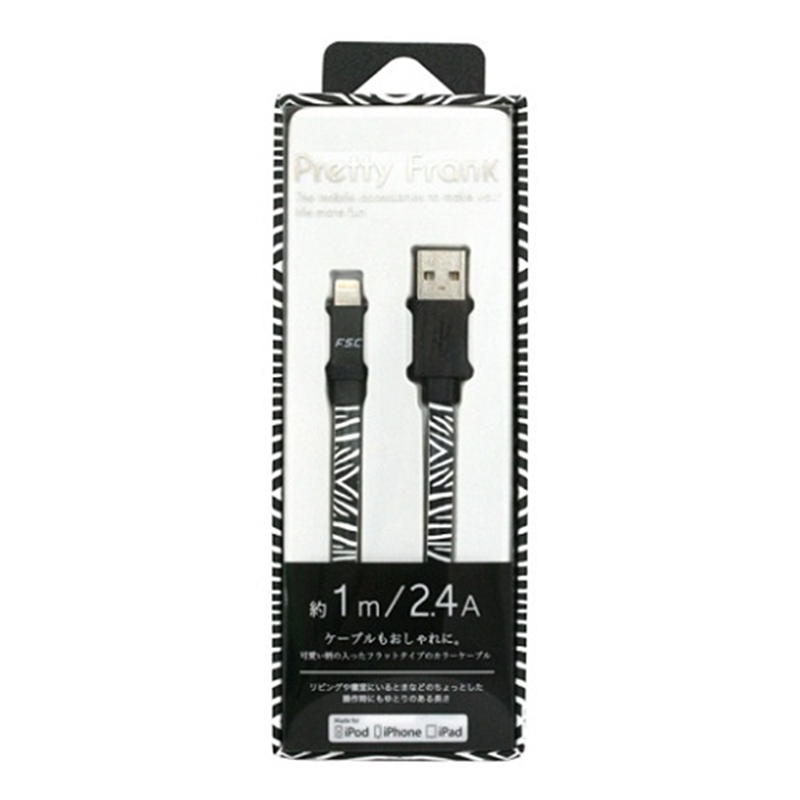 藤本電業 Pretty Lightning cable ゼブラ CK-LD03