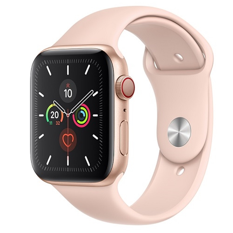 APPLE 【S5GPS/CEL】AW44MM Gアルミ/PKバンド MWWD2J/A(APPLE WATCH S5 44 GOLD AL PS SP CEL)