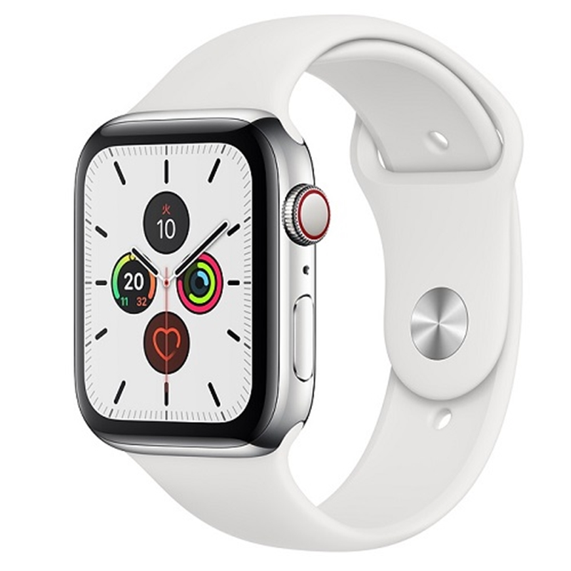 APPLE 【S5GPS/CEL】AW44MM ステンレス/Wスポーツ MWWF2J/A(APPLE WATCH S5 44 P SS WT SP CEL)