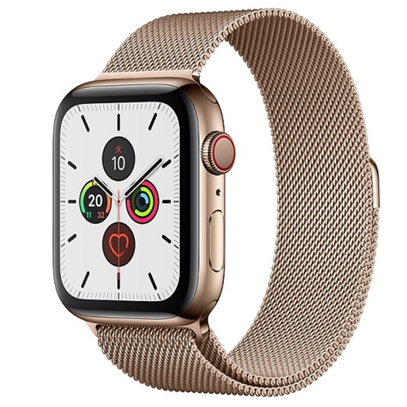APPLE 【S5GPS/CEL】AW44MM Gステンレス/Gミラ MWWJ2J/A(APPLE WATCH S5 44 GOLD SS MIL LP CEL)