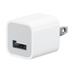 APPLE iPod/iPhone用USB電源アダプター MD810LL/A(5W USB Power Adapter)