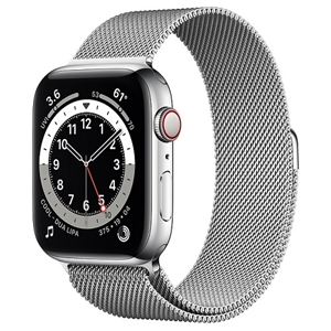 APPLE 【S6GPS/CEL】AW44MM SLステンレス/SLミラ M09E3J/A(APPLE WATCH S6 44 SIL SS SIL ML CEL)