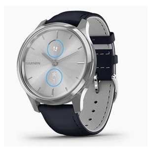 GARMIN vivomove Luxe Navy Leather / Silver 010-02241-70