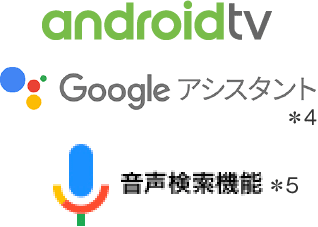 androidtv Google アシスタント 音声検索機能
