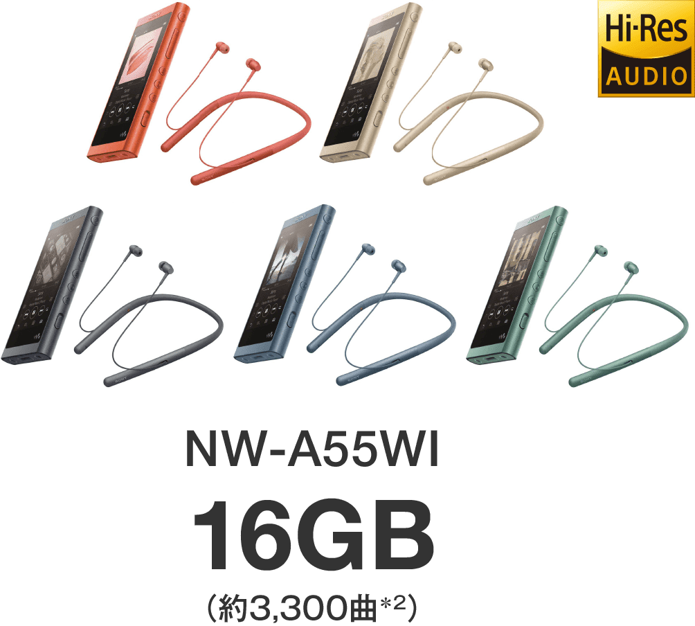 NW-A55WI 16GB(約3,300)